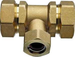 Pro-flex PFTE-CCB6 3/4 in x3/4 in x1/2 in Brass Tee