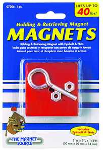 Master Magnetics 07206 Heavy Duty Retrieving Magnet 40 Lb