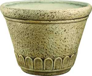 MintCraft QT-001 13 in Round Planter Weather Stone