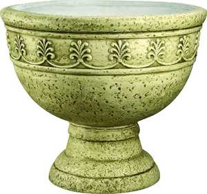MintCraft PT-024 14 in Urn Planter Moss Green