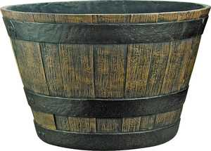 MintCraft PT-030 20 in Cast Stone Whiskey Barrel