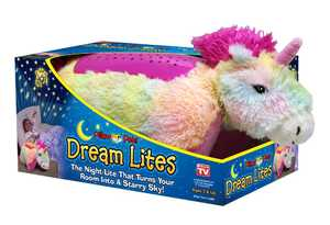 Ontel Products DLRUNI-MC4 Rainbow Unicorn Pillow Pet Dream Lites