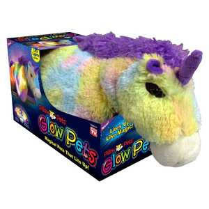 Ontel Products 20114 Rainbow Unicorn Pillow Pet Glow Pets