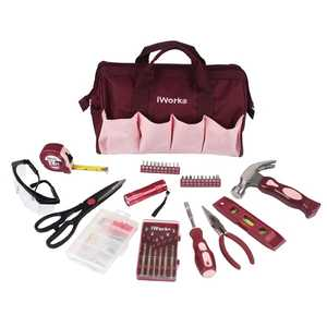Olympia Tools 80-795 36-Piece Pink Tool Bag Set