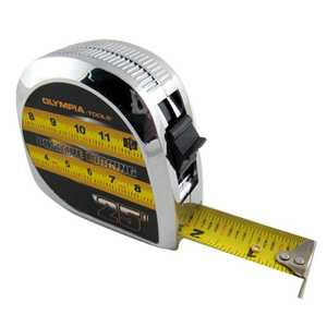 Olympia Tools 43-125 Chrome Tape Measure 1-Inch X 25-Feet