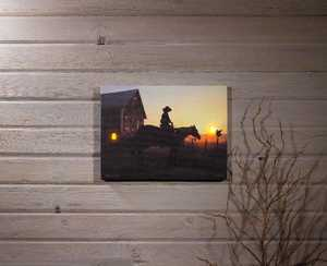 ohio Wholesale 72619 Lighted Canvas Rise and Ride with Timer 12 in x 16 in