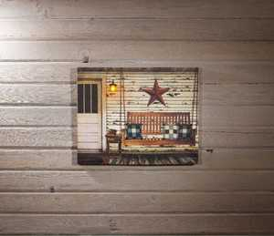 ohio Wholesale 72692 Lighted Canvas Old Sleeping Porch 16 in x 20 in