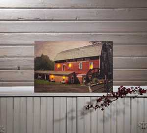ohio Wholesale 72707 Lighted Canvas Old Cider Mill 13 in x 20 in