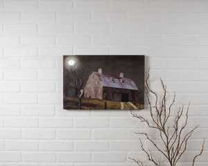 ohio Wholesale 72719 Lighted Canvas MIDNIGHT MOON 12 in x 18 in