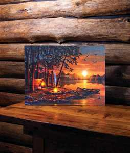 ohio Wholesale 73132 Lighted Canvas R AND R 15 in x 20 in