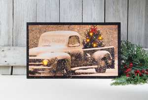ohio Wholesale X46158 Lighted MERRY CHRISTMAS 12 in x 20 in Canvas Painting