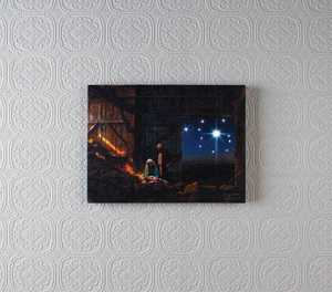 ohio Wholesale X47422 Lighted Canvas LIGHT of the World 12 in x 16 in