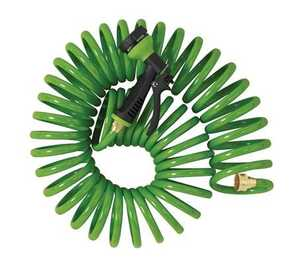 Orbit Irrigation 27872 Green Coil Hose And Spray Nozzle 50 Ft