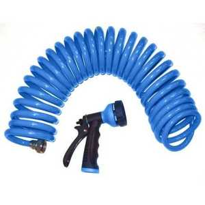Orbit Irrigation 27890 Blue Coil Hose And Spray Nozzle 25 Ft