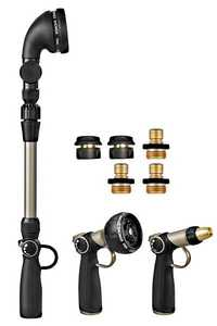 Orbit Irrigation 26016 Thumb-Control Hose-End Nozzle Set With Telescoping Wand 8-Piece