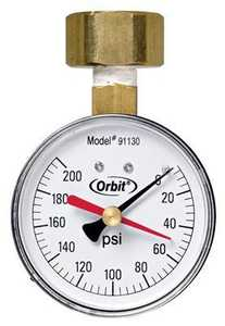 Orbit Irrigation 91130 Water Pressure Gauge 0-200lb