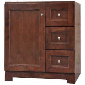 Osage Cabinet UPVR3021-D 30x21 Uptown 1 Door 3 Drawer Vanity