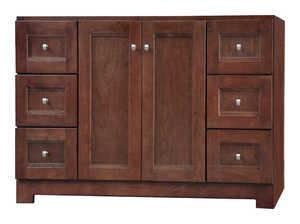 Osage Cabinet UPVR4821-D 48x21 Uptown 2 Door 6 Drawer Vanity