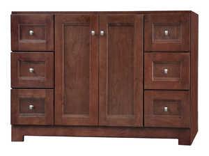 Osage Cabinet UPVR6021-D 60x21 Uptown 2 Door 6 Drawer Vanity