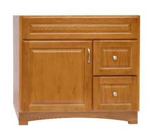 Osage Cabinet TV3621-DL Timberline 36x21 2 Drawer Vanity