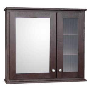 Osage Cabinet MMCS3027-F-DK 2 Door Medicine Cabinet 30x27 Mocha