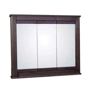 Osage Cabinet MTVS3630-F-DK Tri-View Medicine Cabinet 36x30 Mocha