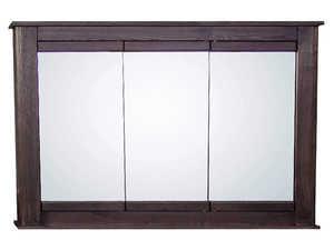 Osage Cabinet MTVS4830-F-DK Tri-View Medicine Cabinet 48x30 Mocha