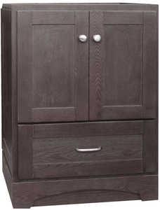 Osage Cabinet MVR 2421-D-DK 2 Door 1 Drawer Vanity 24x21 Mocha