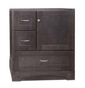 Osage Cabinet MVR 3021-DR-DK 3 Drawer Right Door Vanity 30x21 Mocha