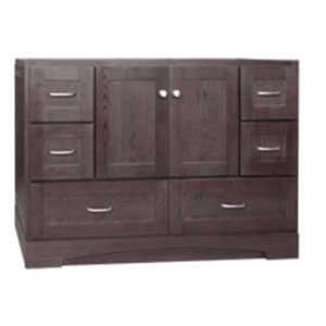 Osage Cabinet MVR 6021-D-DK 6 Drawer Vanity 60x21 Mocha