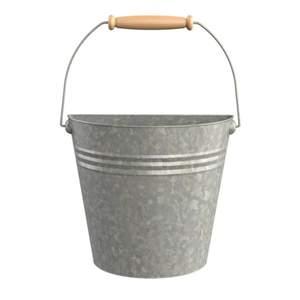Panacea 83220 10-Inch Galvanized Half Bucket Planter With Handle