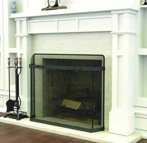 Panacea 15113 Fireplace Spark Guard 39x31 Black