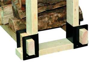 Panacea 15211 Log Rack Brackets 4pc Black
