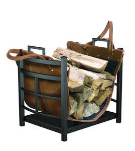 Panacea 15245 Log Bin Mission With Leather Carrier