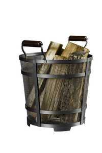 Panacea 15704 Basket Log Contemporary Antique Iron