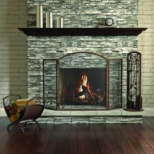 Panacea 15914 3 Panel Fireplace Screen Oak Leaf Col Brown