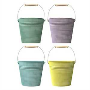 Panacea 83221 10-Inch Half Bucket Planter With Handle