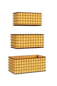 Panacea 83337 3-Piece Rustic Woven Wire Wall Basket Planter Set