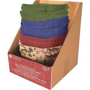 Panacea 83504 14 in Round Burlap Replacement Liners Assorted