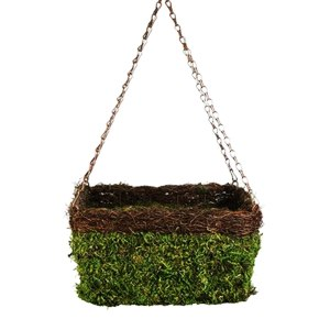 Panacea 83556 13 in Moss & Vine Square Hanging Basket