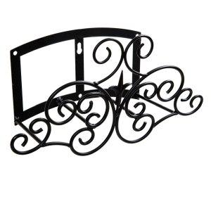 Panacea 84027 Classic Finial & Scroll Hose Hanger Black