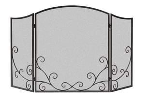 Panacea 15981 32-1/2-Inch X 50-Inch 3-Panel Black Flourishing Scroll Fireplace Screen