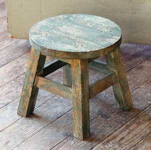 Park Hill Collections YF1001 Aged Green Milking Stool