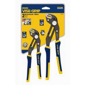 Irwin 2078709 2 Piece Vise-Grip Groove Lock Pliers Set