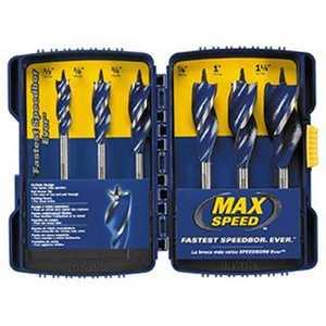 Irwin 3041006 6 Piece Speedbor MAX Speed Woodboring Drill Bit Set