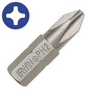 Irwin 35101125 Insert Bit Phil #2 1 in 25/Bag