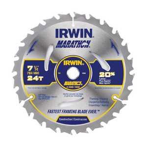 Irwin 1914528 7-1/4-Inch 24t Marathon Carbide Circular Saw Blade