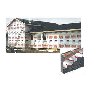 Perma R Products 9X100 ft 9-Foot X 100-Foot Permawrap House Wrap