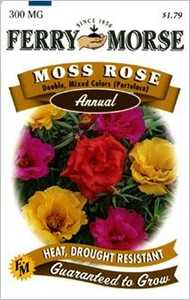 Ferry-Morse Seed Company 1095 Moss Rose Double Mix Seeds