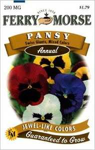 Ferry-Morse Seed Company 1105 Pansy Swiss Giant Seeds